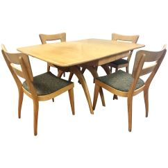 Heywood Wakefield Dogbone Chairs Affordable Accent Dining Set Champagne Boomerang Table Dog Bone For Sale