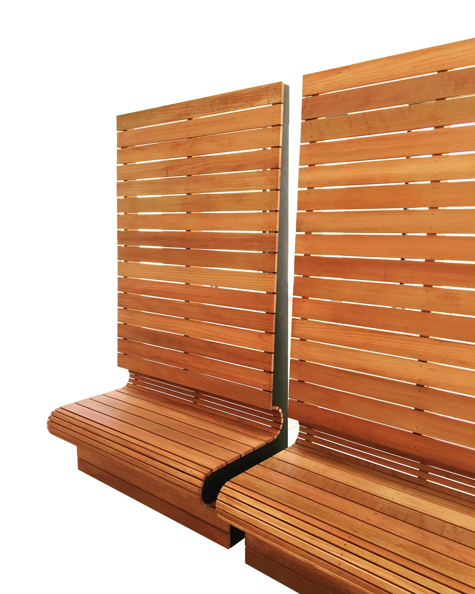high back privacy bench