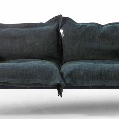 Steel Frame Sofa Grey Leather Chesterfield Corner Iron Maiden Three Seat Upholstered With By Moroso For Diesel Sale At 1stdibs