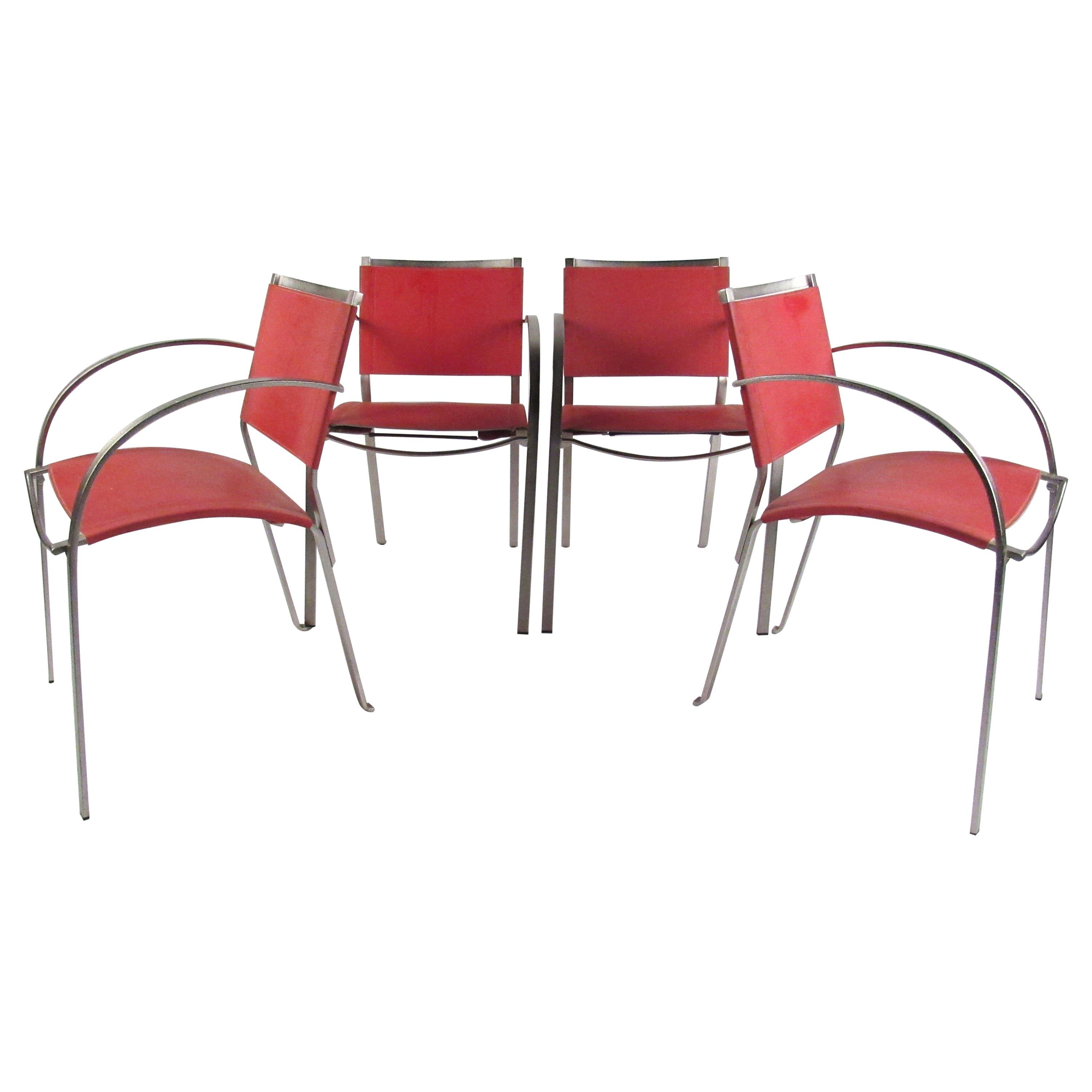 Red Leather Dining Room Chairs Italian Modern Red Leather Dining Chairs