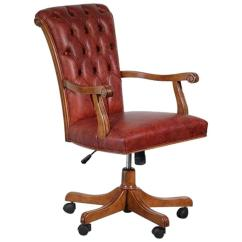 Office Chair On Sale Desk No Casters Italian Walnut And Calf Leather Designer For At