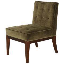 Brown Slipper Chair Blue Design Group James Dolena For Sale At 1stdibs