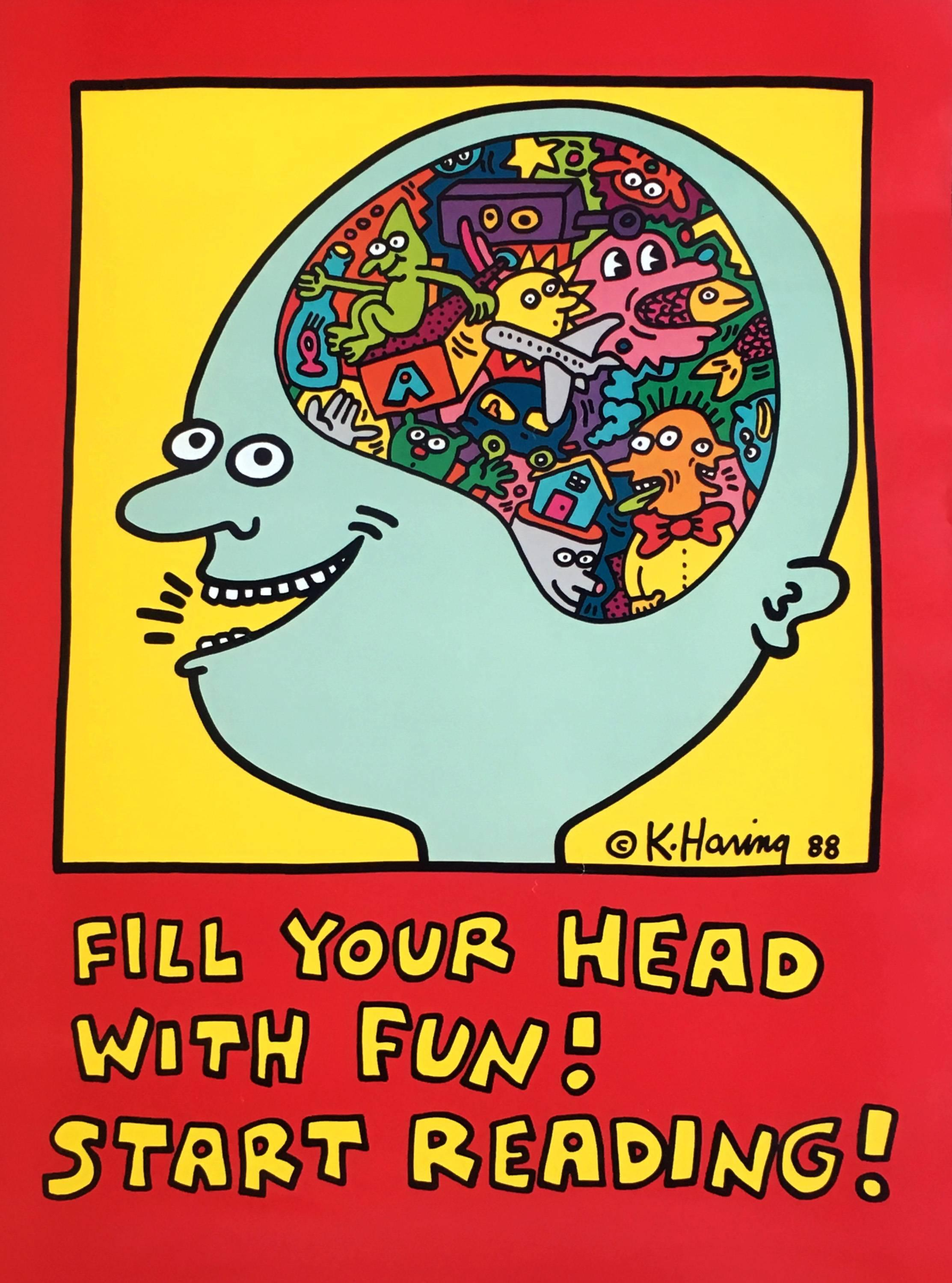 keith haring fill your head with fun start reading keith haring prints