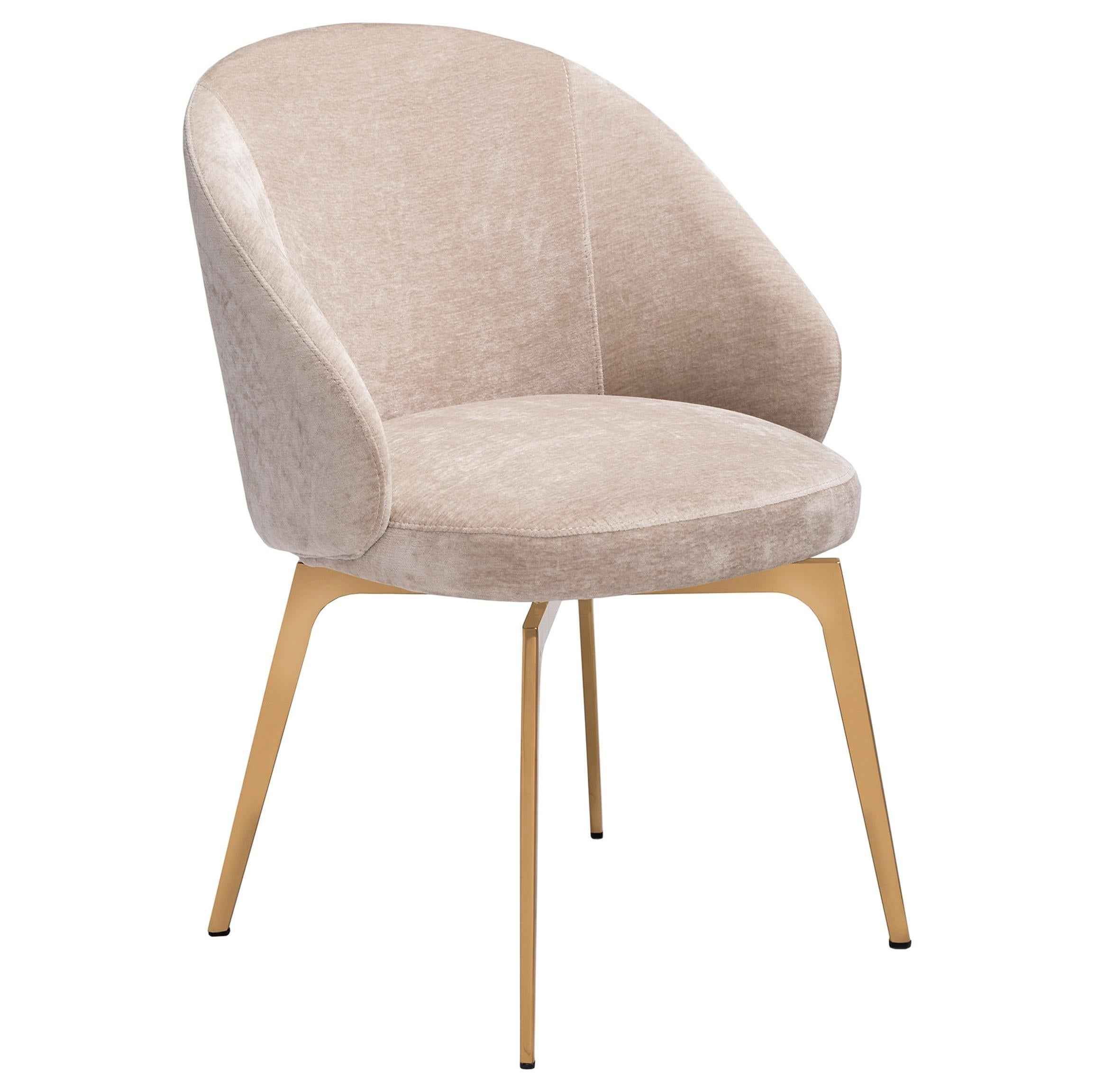 beige dining chairs fabric with arms set of 6 kelly upholstery in latte velvet w modern rose gold