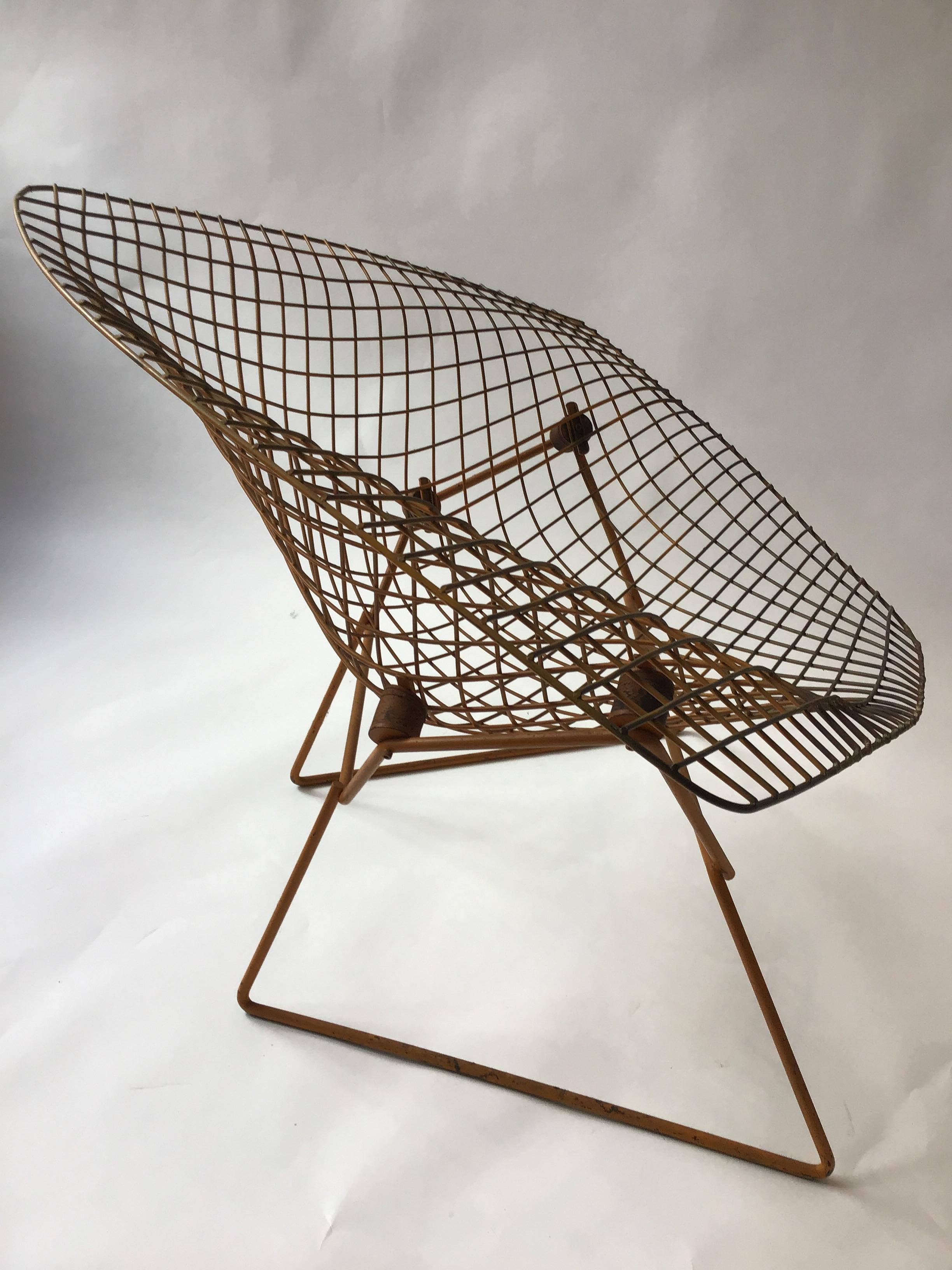 Diamond Chair Knoll Knoll Bertoia 1960s Wide Diamond Chair For Sale At 1stdibs