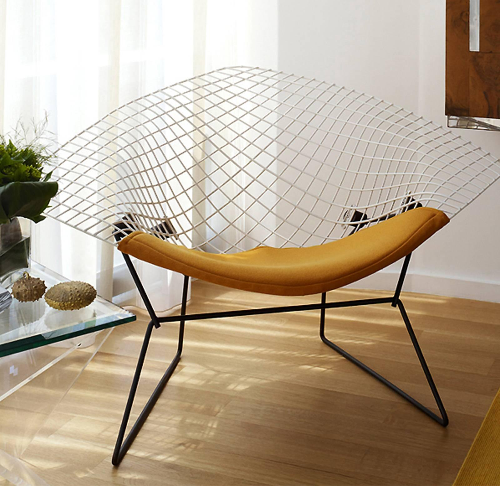 Diamond Chair Knoll Knoll Bertoia Wide Diamond Chair For Sale At 1stdibs