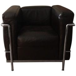 Le Corbusier Chair Best Chairs Recliner Lc3 Grand Confort Lounge By At 1stdibs Lc2 Black Leather Cassina