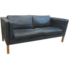 Dark Green Leather Sofa Small Beds Uk By Borge Mogensen For Fredericia Stolefabrik Model 2335 Sale Exquisite Buttery
