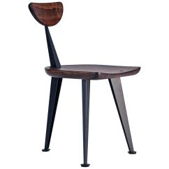 Chair Steel Legs Bedroom Commode Los Gatos Three Leg Modern Dining With Sculpted Seat Back And For