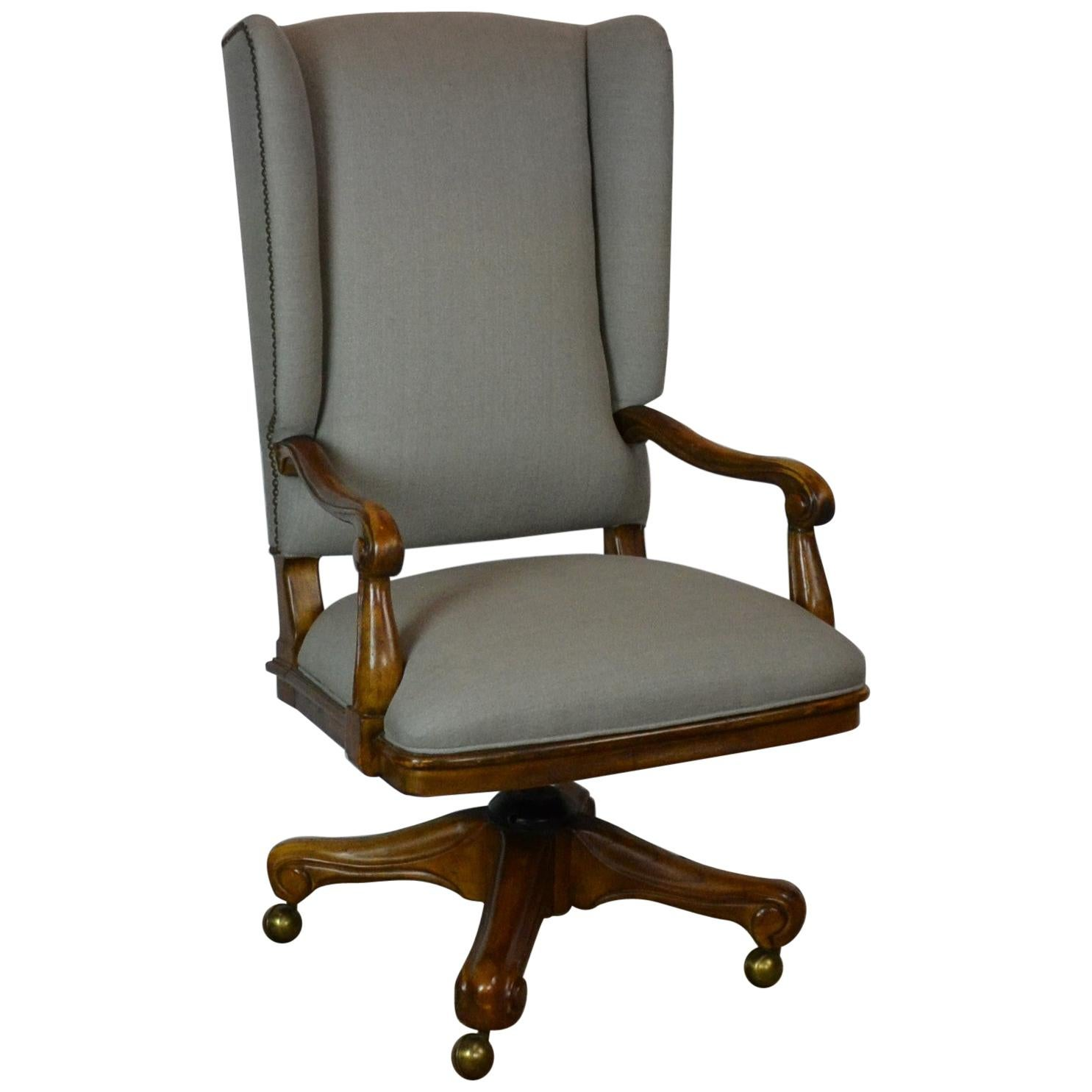 Linen Office Chair Louis Xv Style Office Chair
