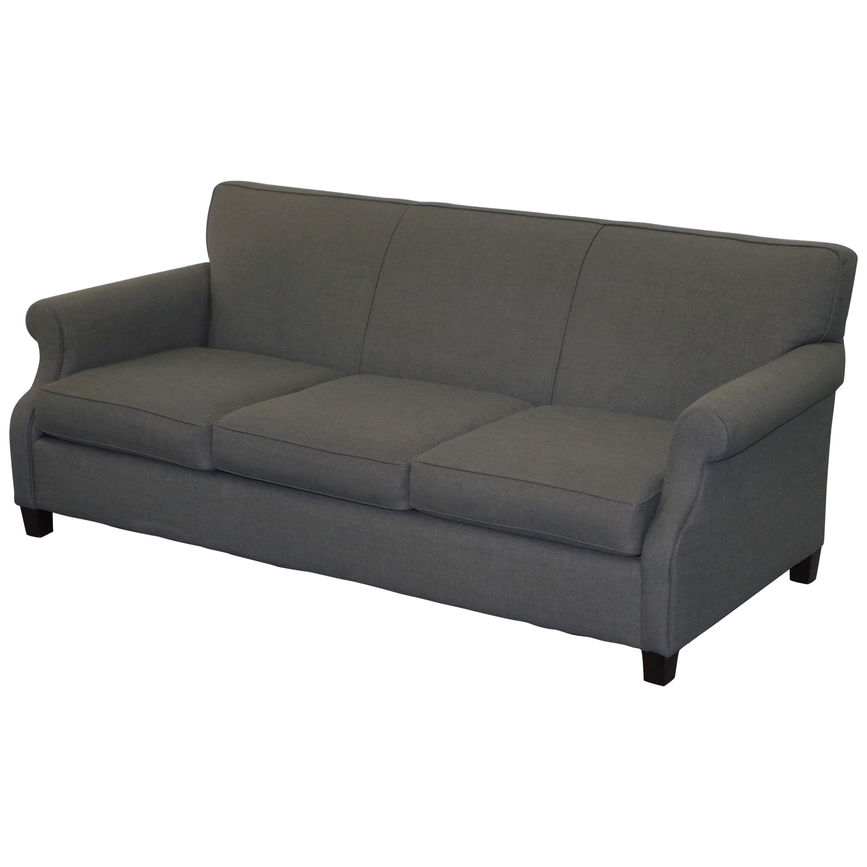 bernhardt sofas le corbusier sofa uk lovely sharktooth linen grey upholstery contemporary for sale