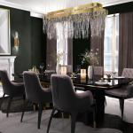 Luxxu Beyond Dining Table In Black Wood With Brass Detailed Base For Sale At 1stdibs