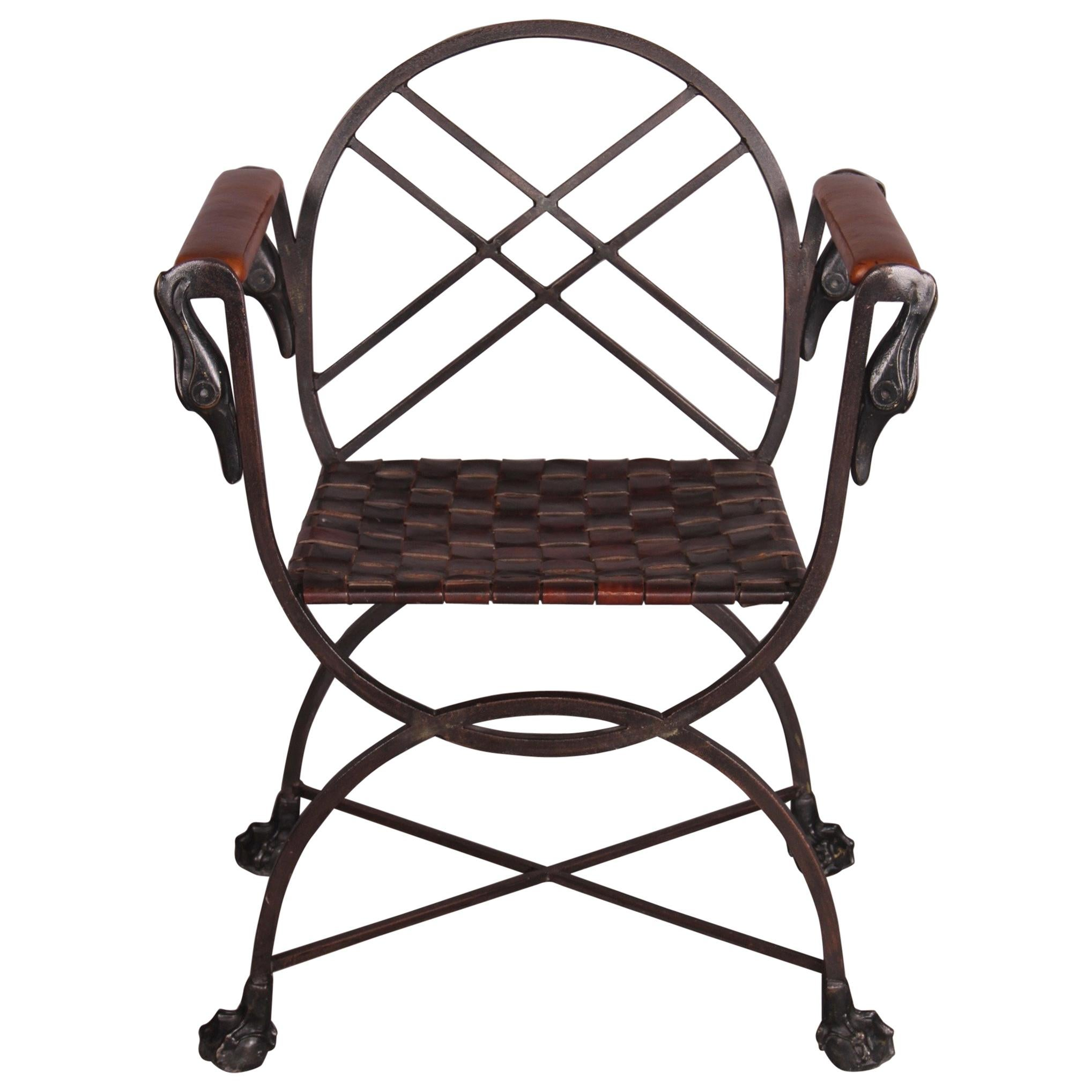 metal armchair chaise lounge chair ikea marcel coard leather and for sale at 1stdibs
