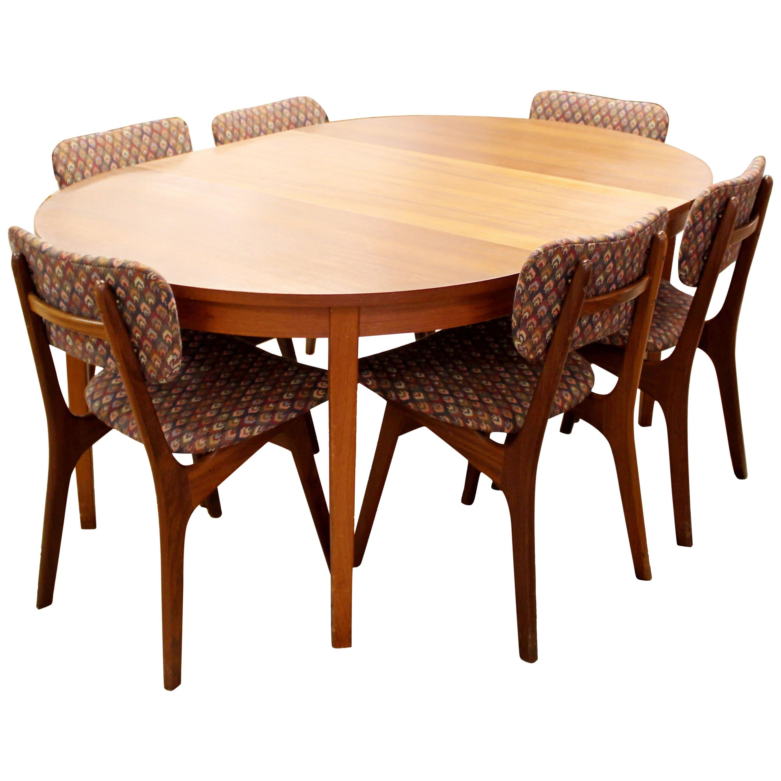 table and 6 chairs steel z chair mid century modern very large extendable danish dining arne hovmand olsen teak oval