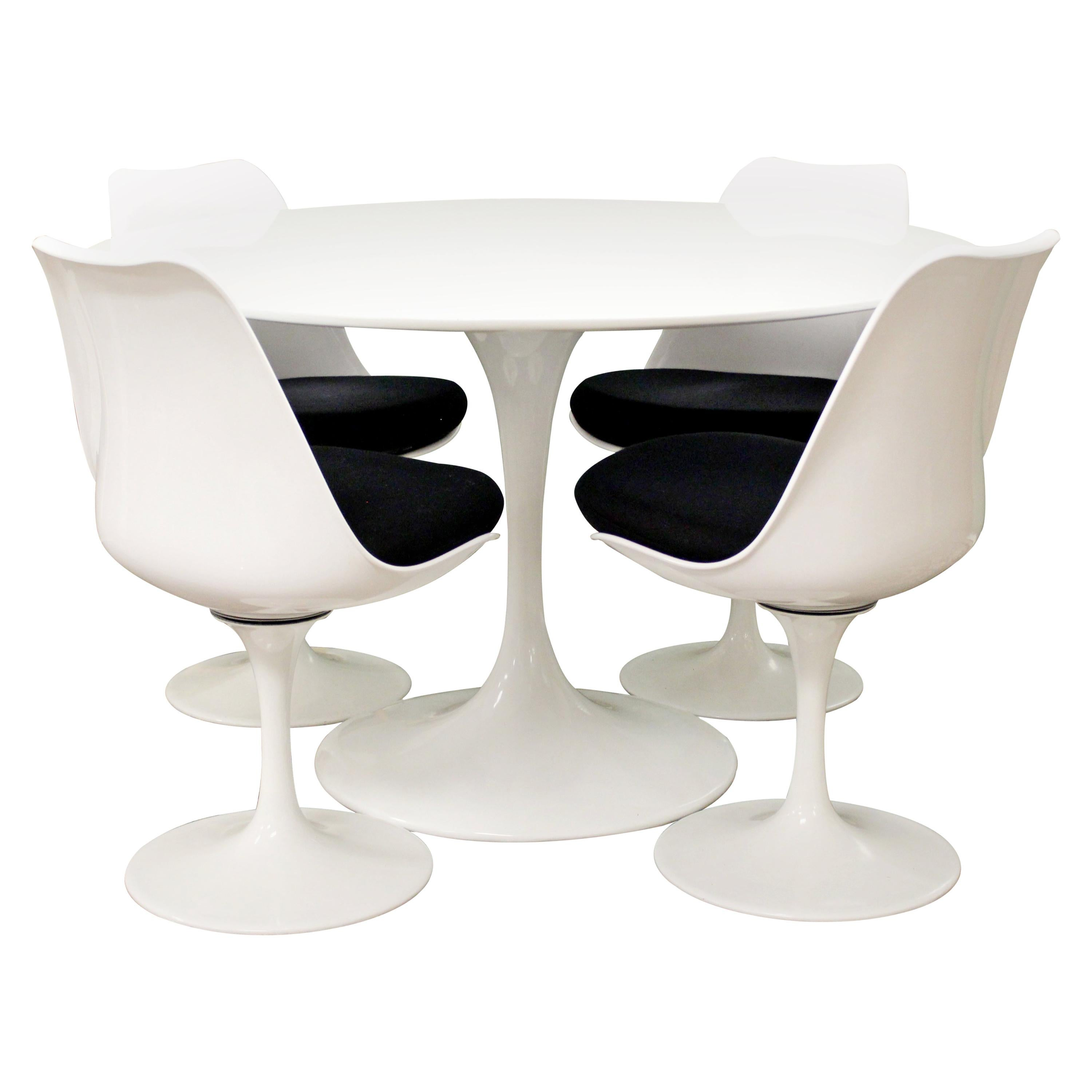 tulip table and chairs tio easy chair saarinen style propeller dining by burke at mid century modern 4 set 1960s