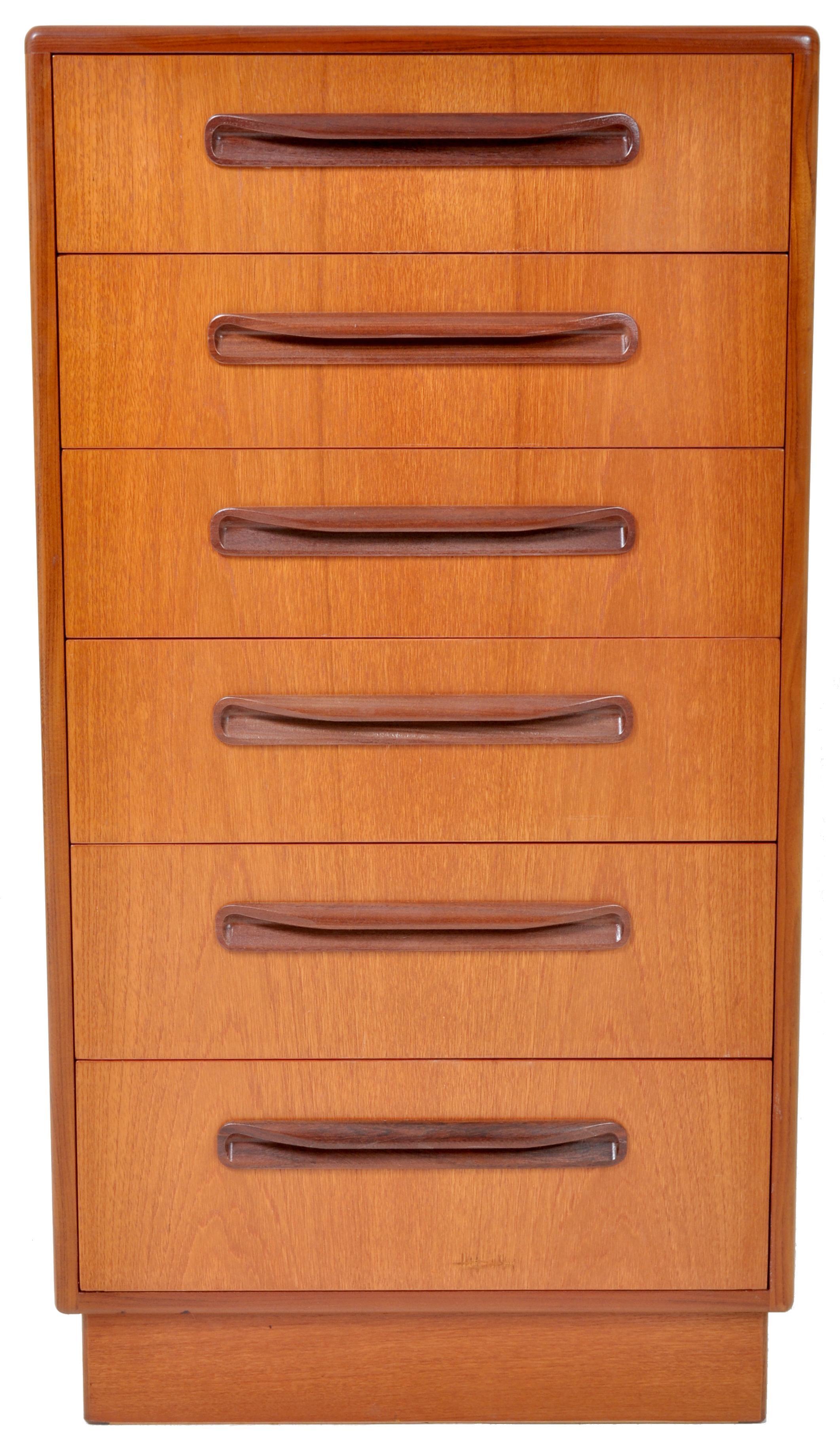Mid Century Modern Danish Teak Fresco Chest Of Drawers Dresser G Plan 1960s
