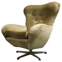 Mid Century Egg Chair Wooden High Modern Design Swivel 1960s For Sale At 1stdibs