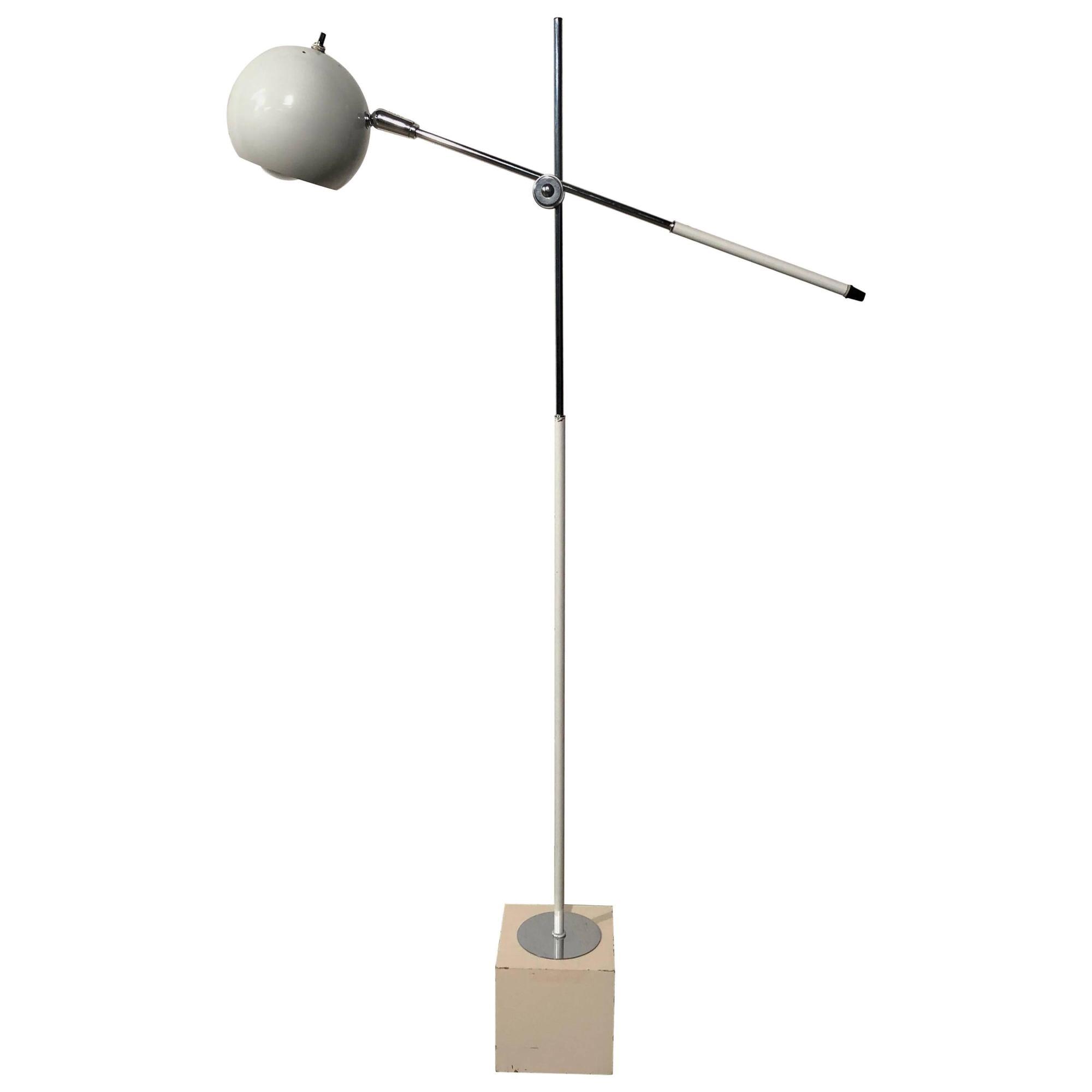 hight resolution of mid century modern fully adjustable white floor lamp by robert sonneman at 1stdibs
