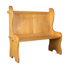 Pine Kitchen Bench American Made Cabinets Mid Century Modern Settle English Pew Hall