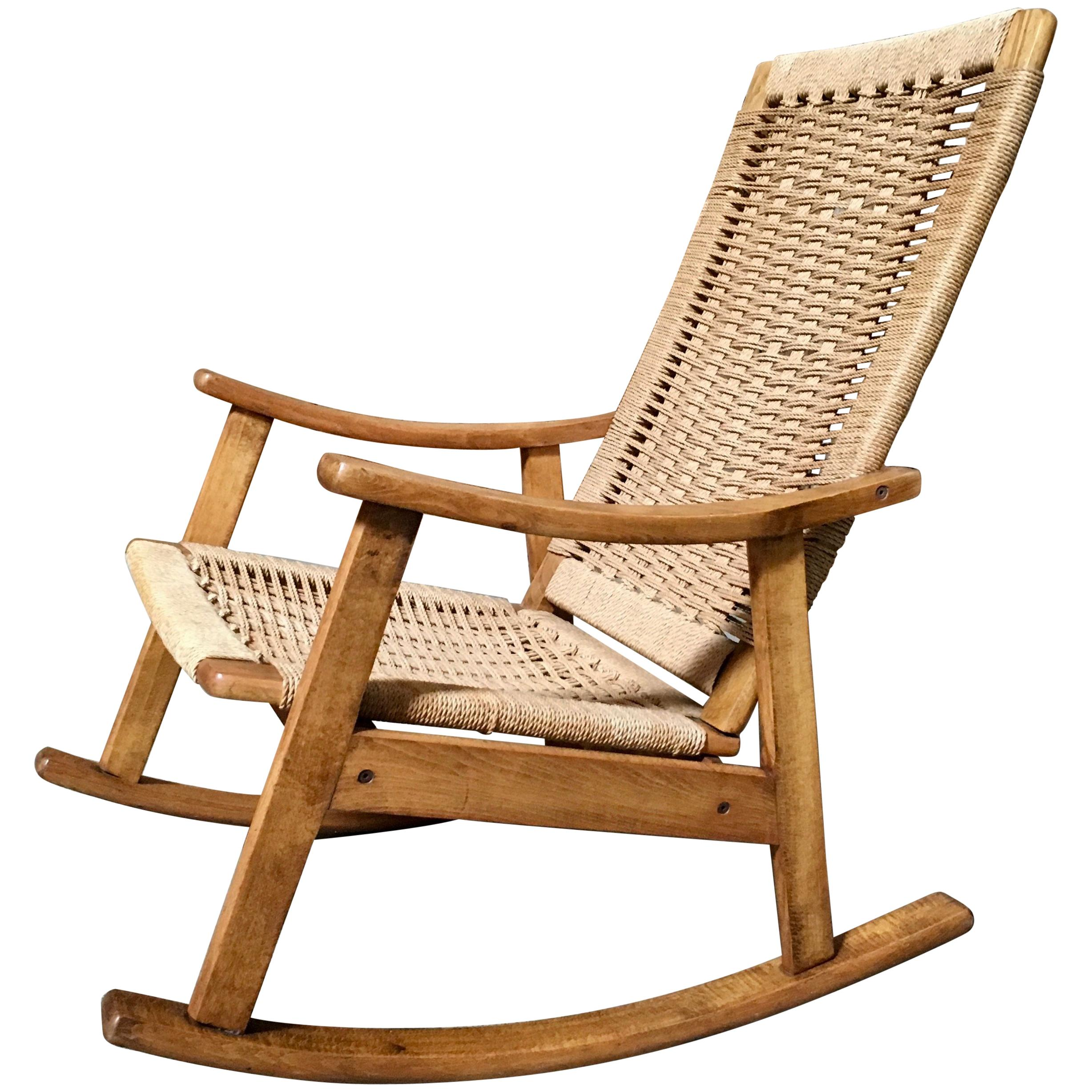 danish modern rocking chair tableclothsfactory covers mid century for sale at 1stdibs