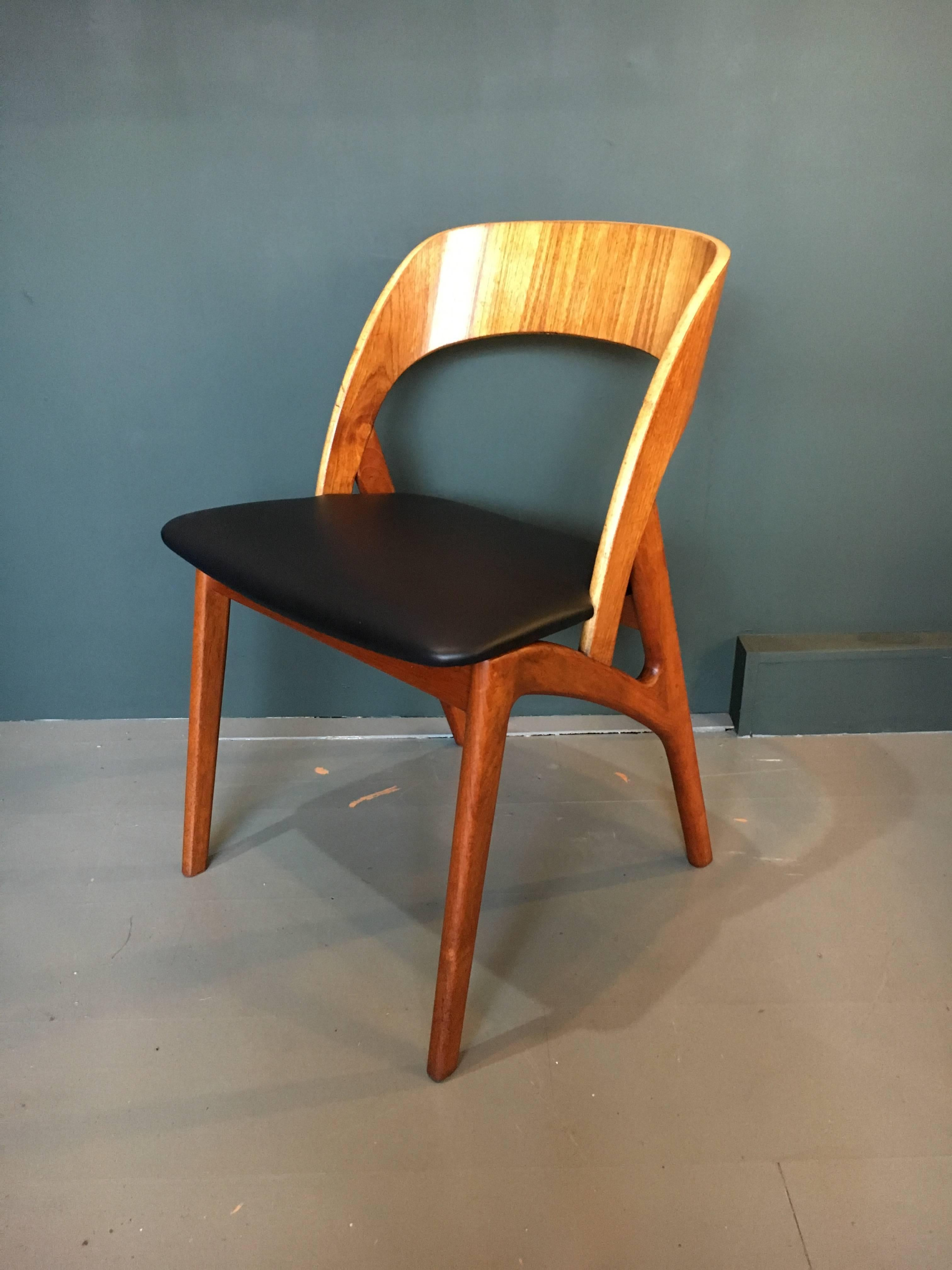 Refurbished Chairs Midcentury Danish Dining Chairs Set Of Eight Refurbished Teak With New Leather