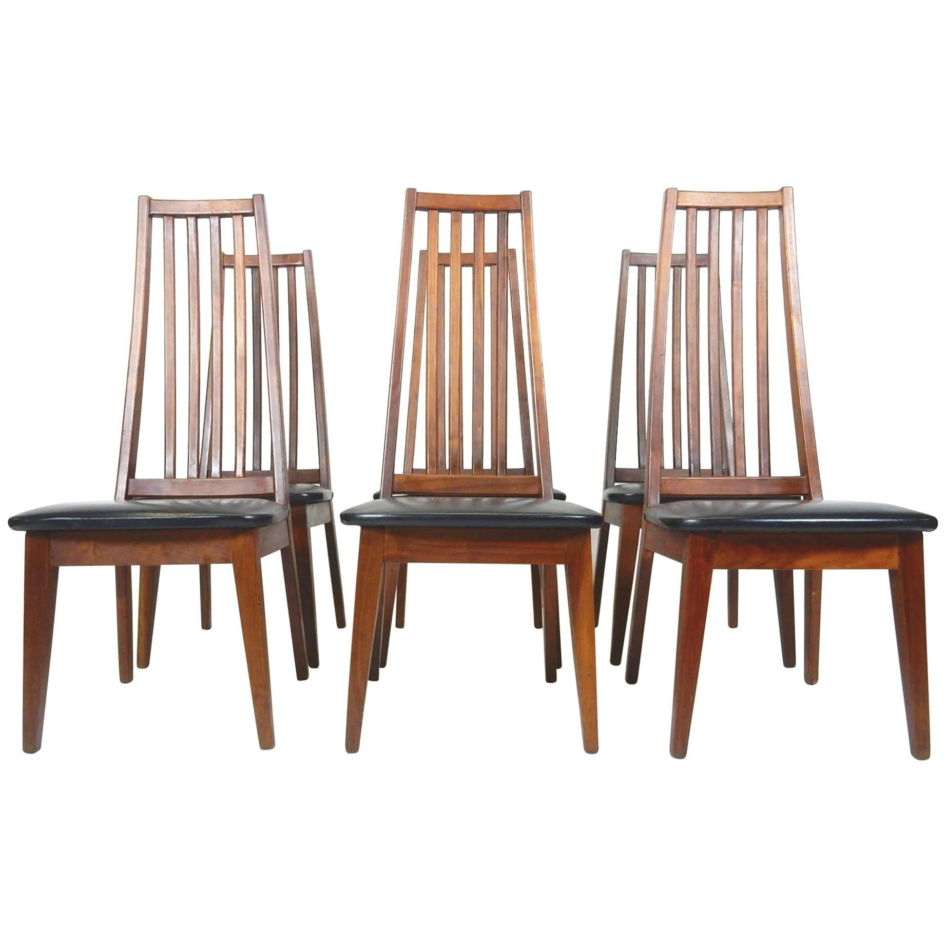 tall back dining chairs blue velvet tufted chair modern bentwood for sale at 1stdibs midcentury danish teak wood spindle