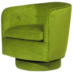 Green Velvet Swivel Chair Target Bean Bag Pillowfort Milo Baughman For Thayer Coggin And Tilt Lounge In Sale