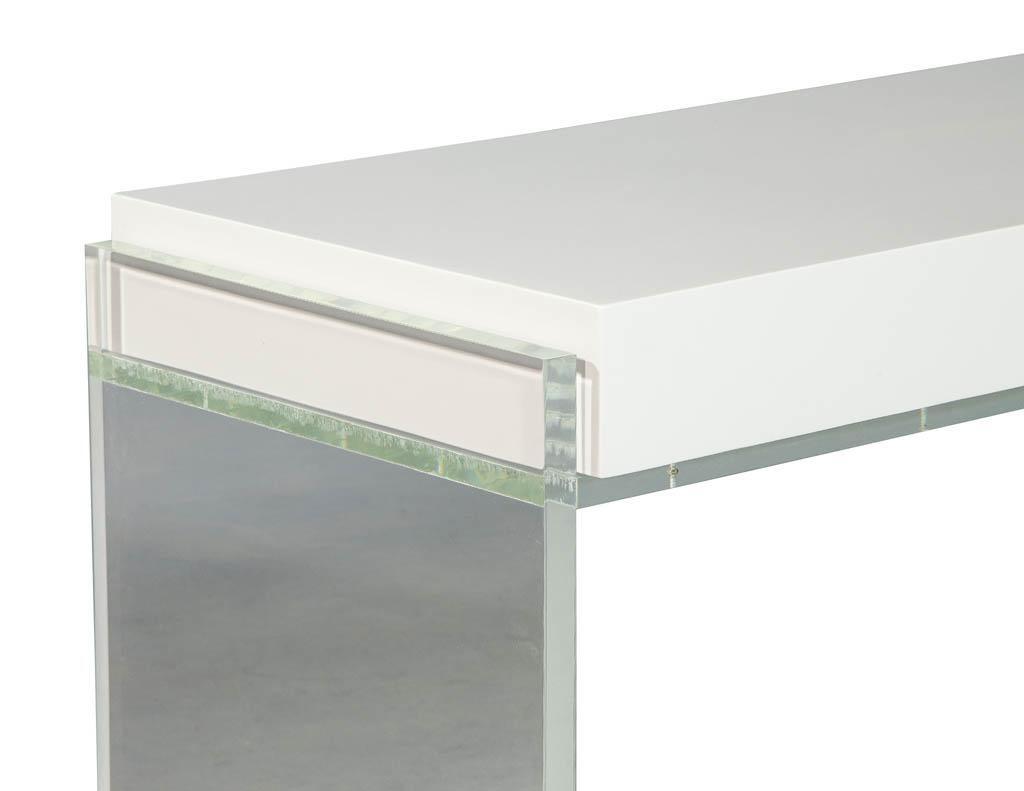 Modern Acrylic Polished White Writing Desk at 1stdibs