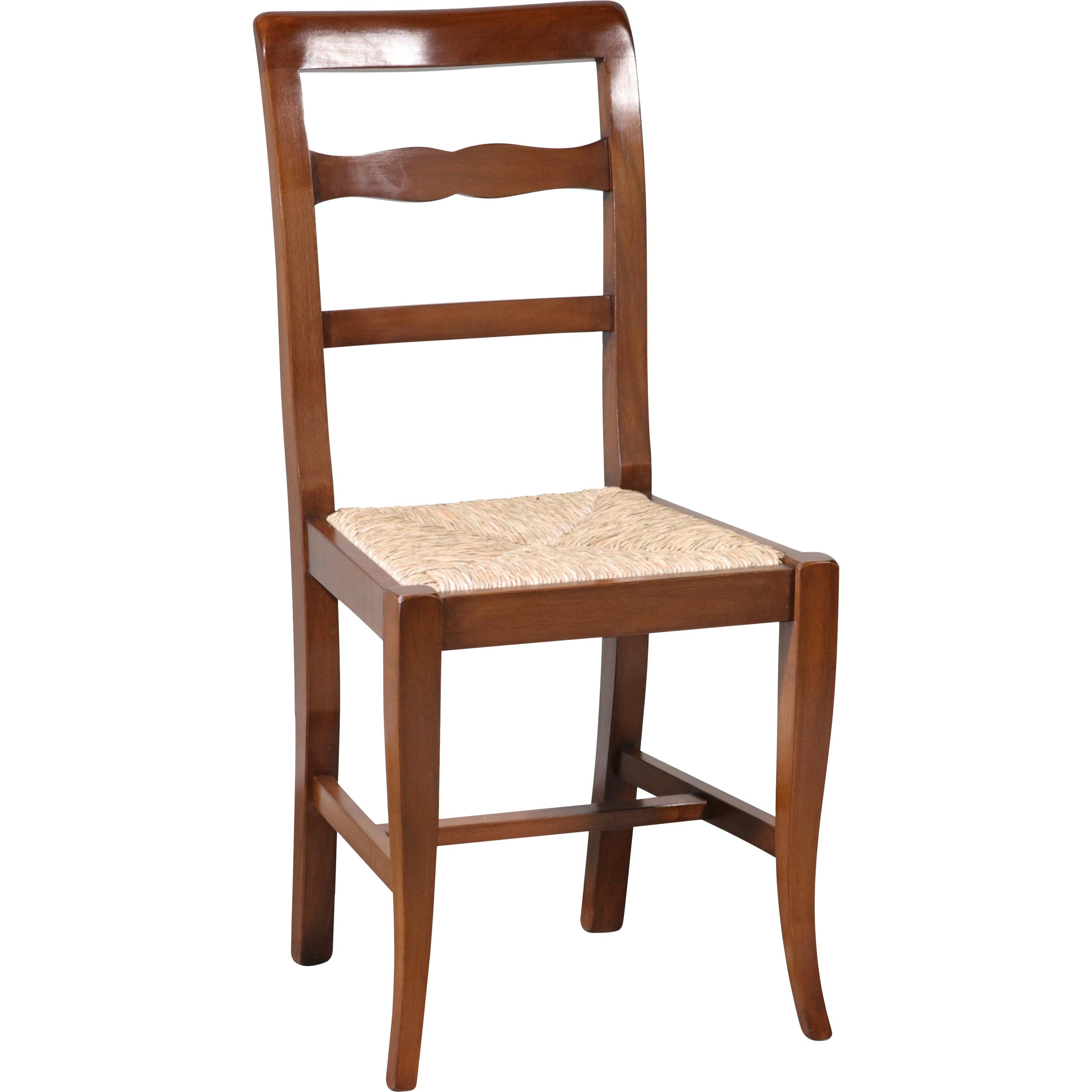 white ladder back chairs rush seats dining table chair cushion covers antique 1930s b1014 modern italian walnut seating ten available