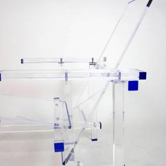 Fishing Chair Crane Boon Flair High Green Modern Minimalist Clear And Blue Lucite Lounge Now In Production For Sale At 1stdibs