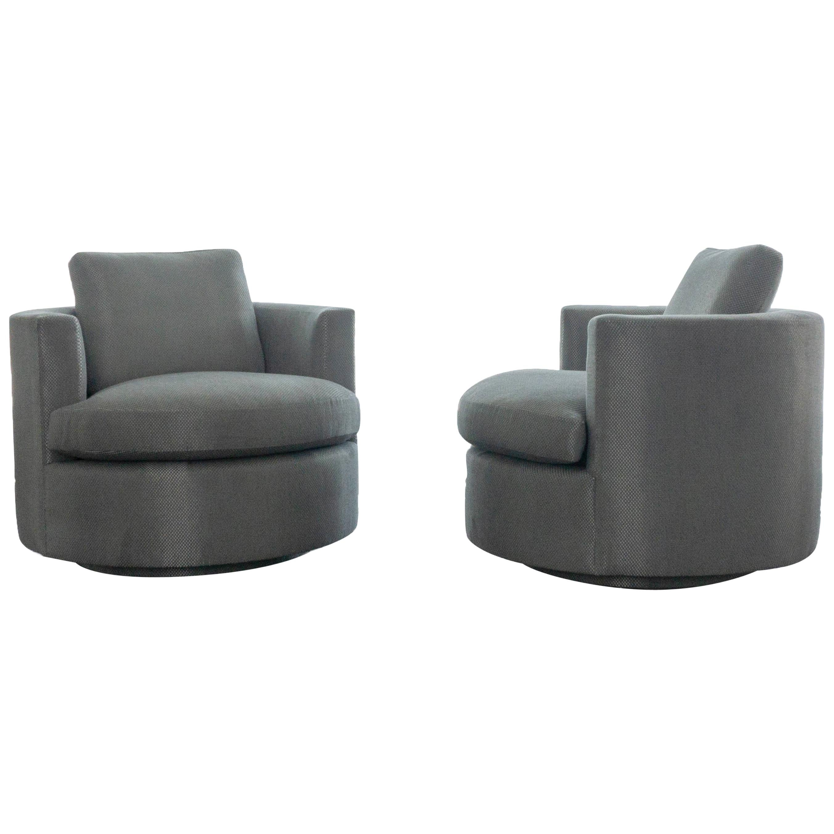 swivel chairs for sale tufted dining modern round chair at 1stdibs