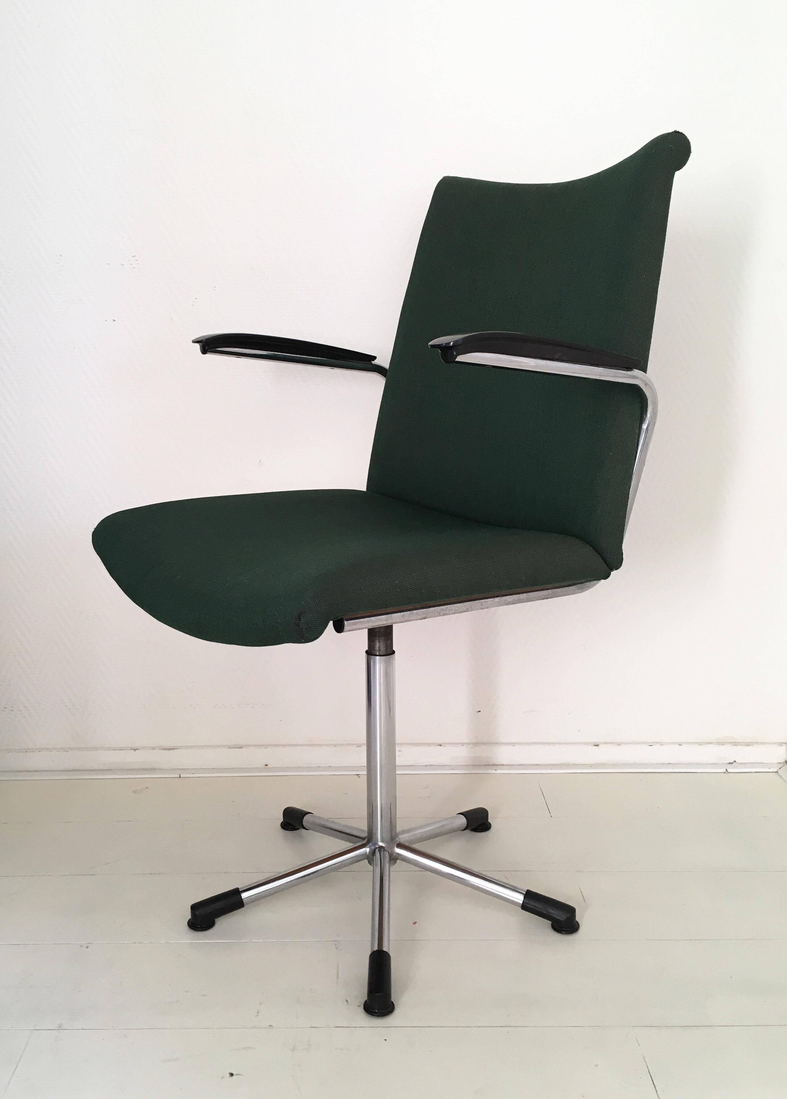 Minimalist Desk Chair Moss Green Desk Chair Model 3314 By De Wit Schiedam 1960s