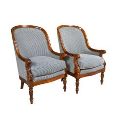 Arm Chairs For Sale Kids Rocking Chair Pair Mahogany Empire Style Armchairs At 1stdibs