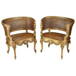 Salon Chairs For Sale Best Massage Consumer Reports Pair Of 19th Century French Gilded At 1stdibs