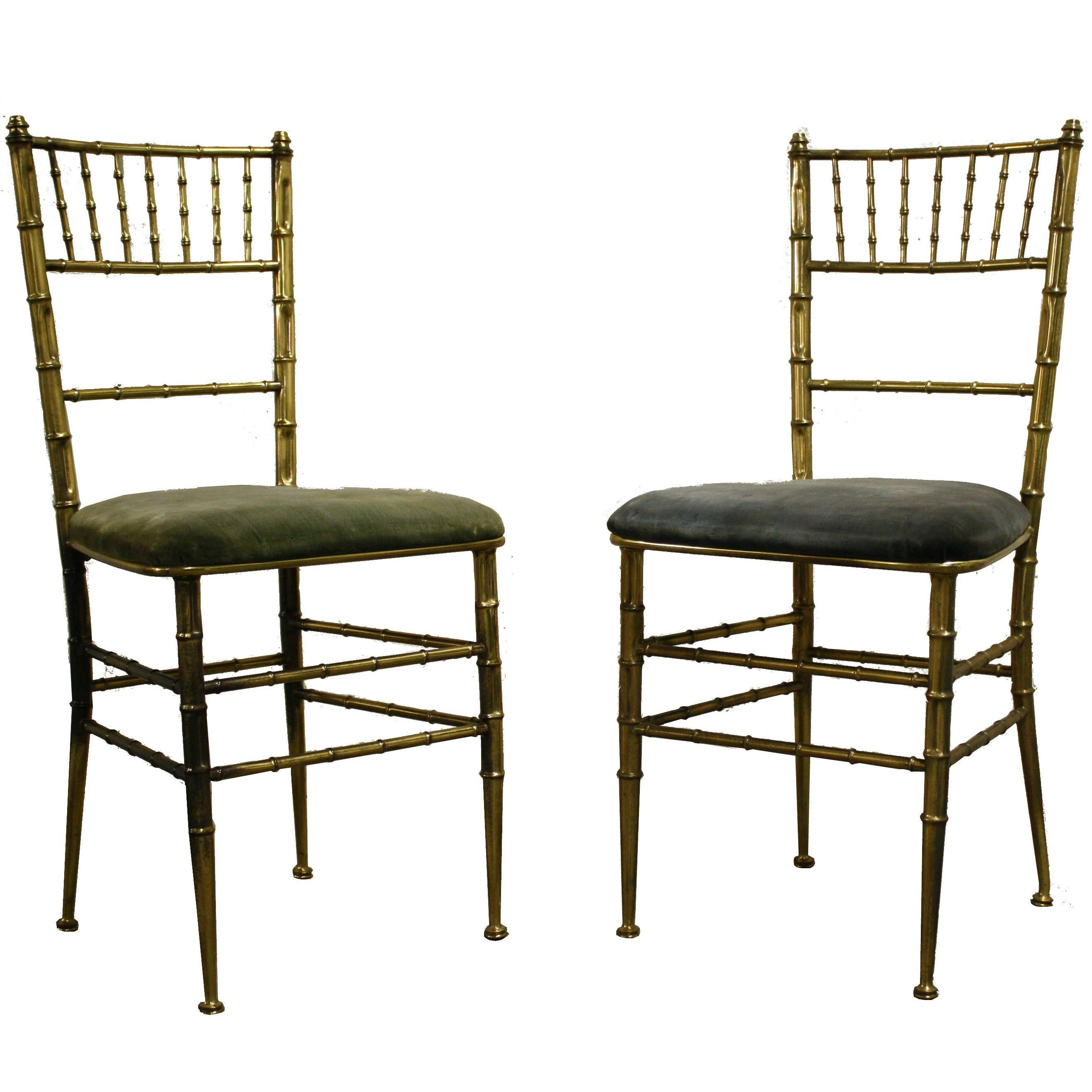 bamboo dining chair modern arm chairs uk pair of brass faux italy 1960s at 1stdibs for sale