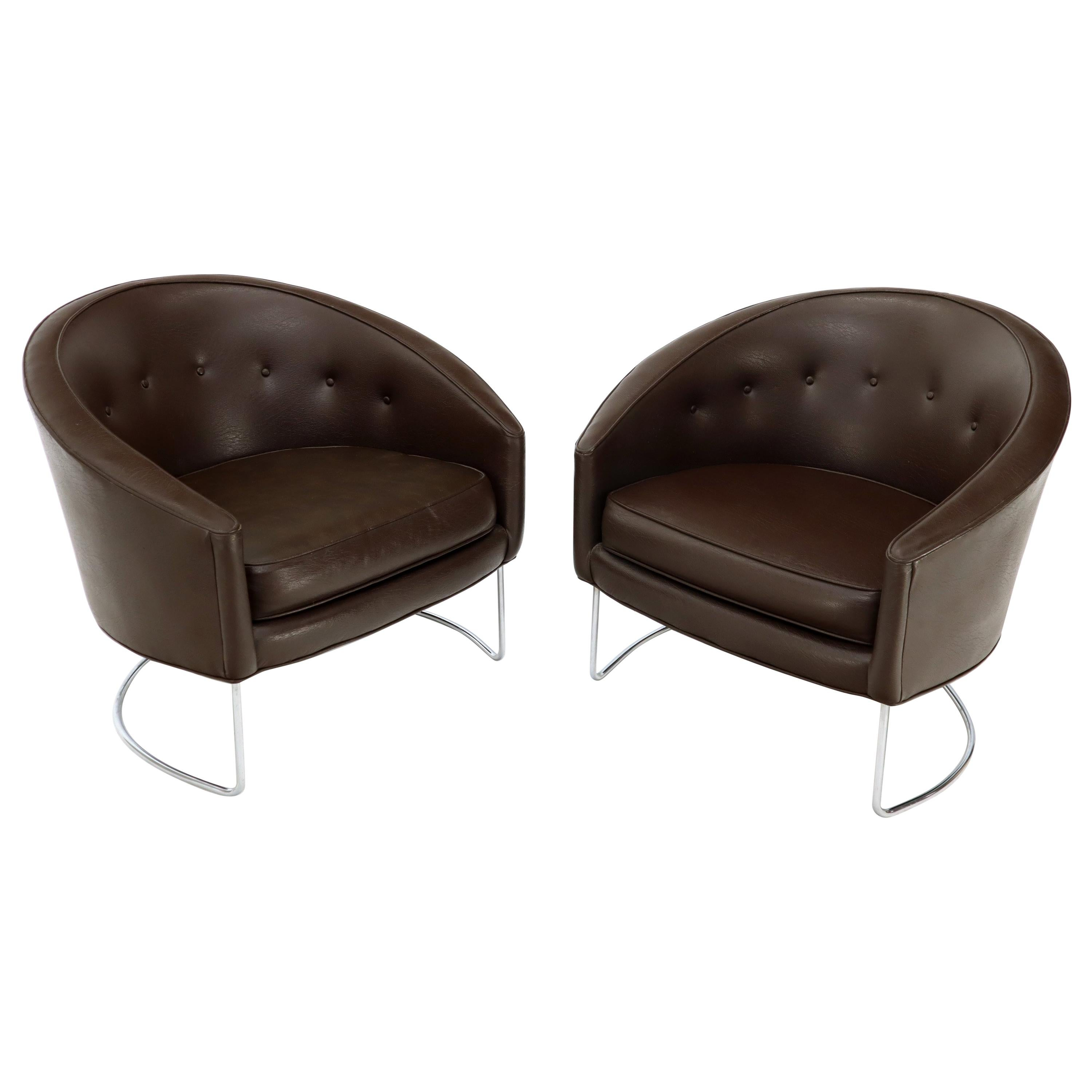 tub chair brown leather wide seat recliner chairs 47 for sale on 1stdibs