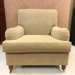 Oversized Upholstered Chair Covers No Arms Pair Of English Lounge Chairs For Sale At 1stdibs Original Upholstery Solid Wooden Legs With Brass