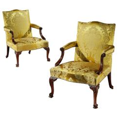 Arm Chairs For Sale Herman Miller Second Hand Pair Of George Iii Gainsborough Open Armchairs At 1stdibs