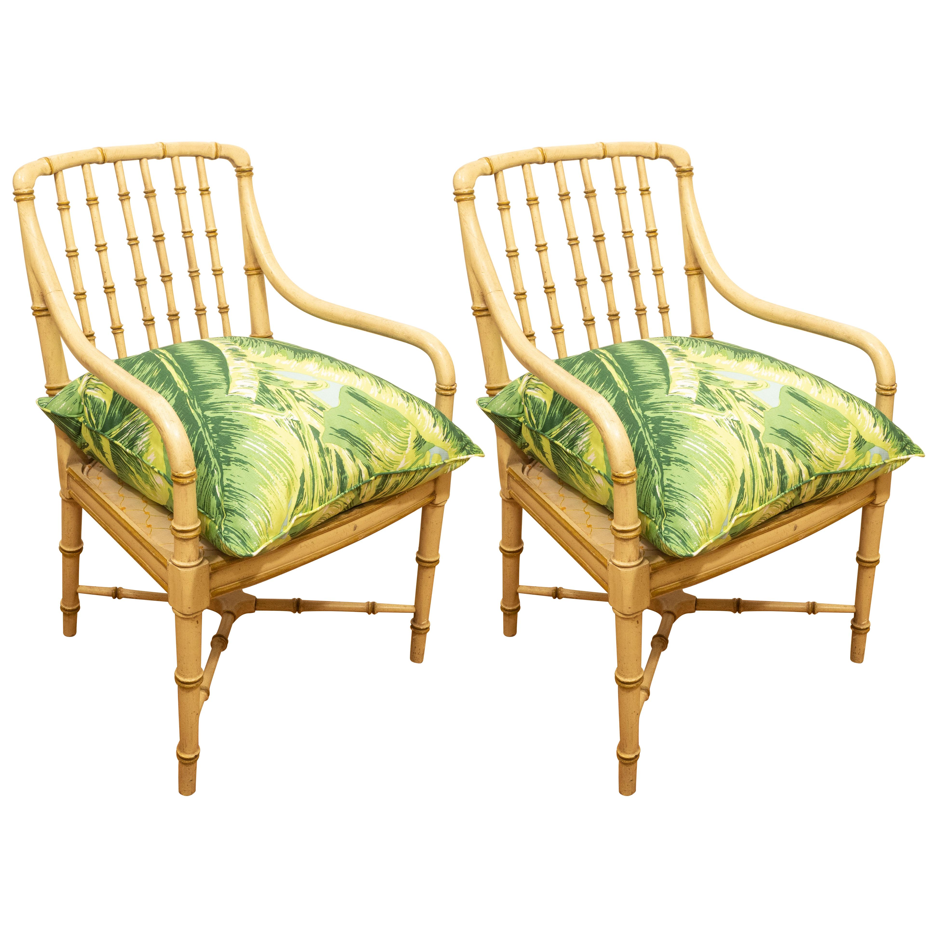 bamboo chairs outside fold up pair of green for sale at 1stdibs