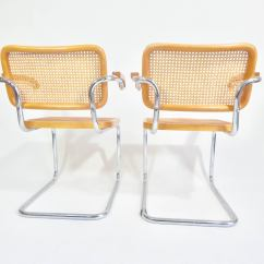 Marcel Breuer Cesca Chair With Armrests Used Chairs For Sale Pair Of Chairs, 1970s At 1stdibs