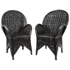 Wicker Chairs For Sale Restoration Hardware Chair And A Half Pair Of Moroccan At 1stdibs
