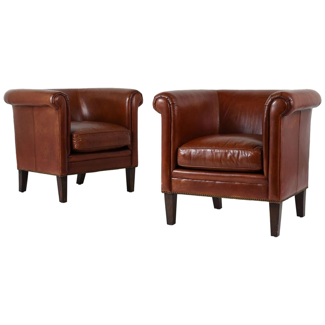 bernhardt brown leather club chair target outdoor lounge chairs pair of regency style for sale at 1stdibs