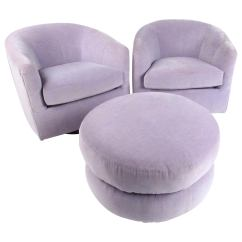 Swivel Club Chair With Ottoman Purchase Chairs Online Pair Of Vintage For Sale At 1stdibs