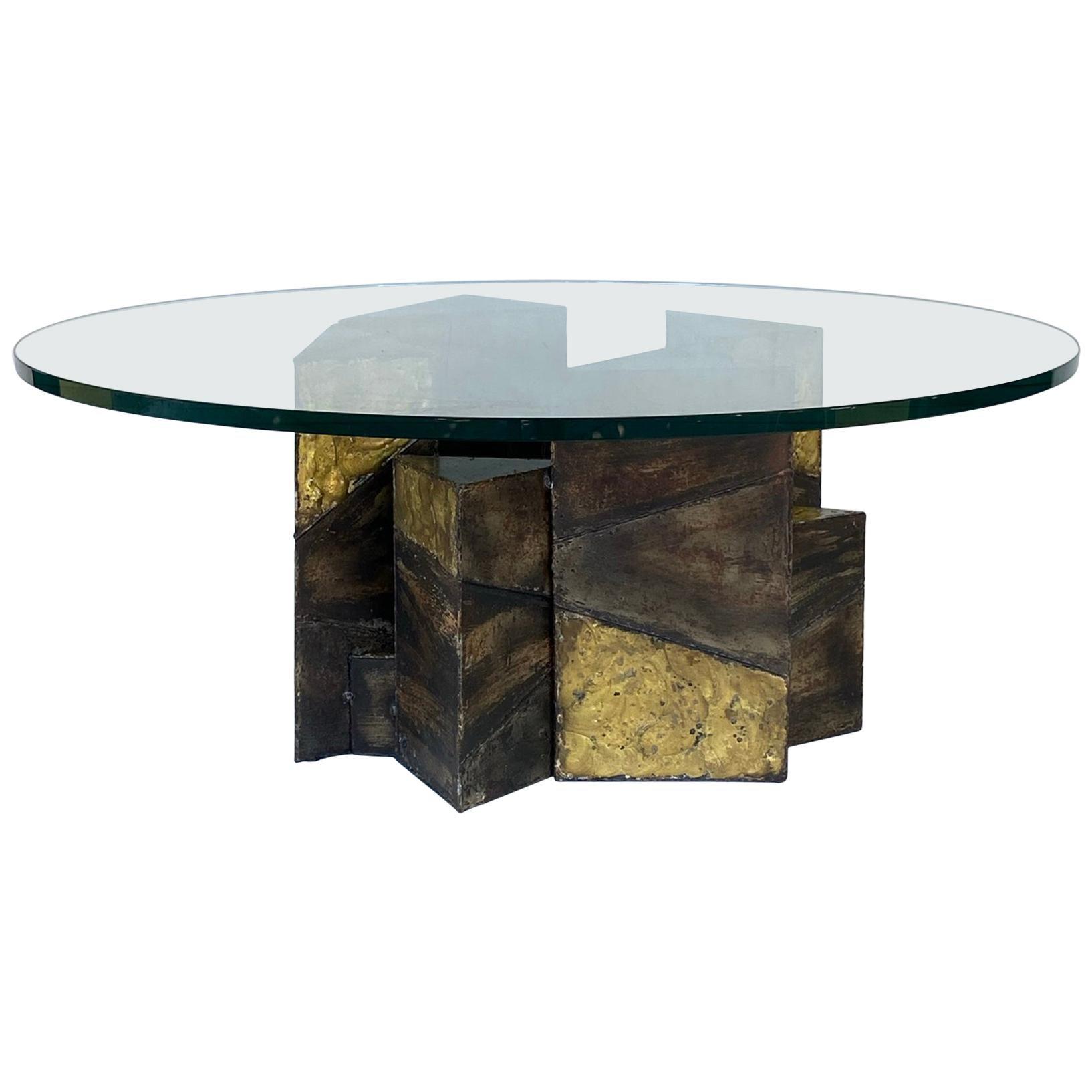 paul evans welded steel brutalist coffee table studio made