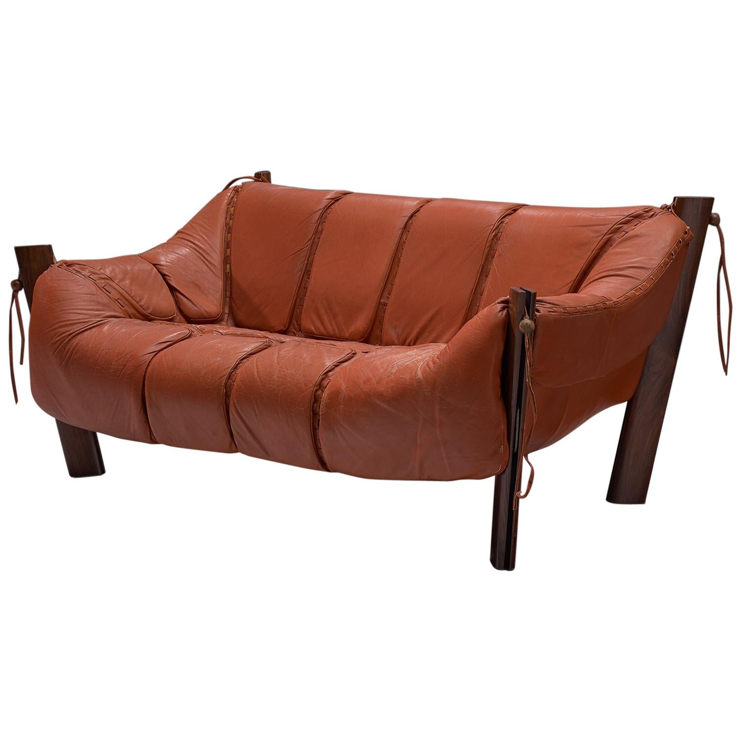 red leather two seater sofa new corner sofas uk percival lafer seat in rosewood and for sale at
