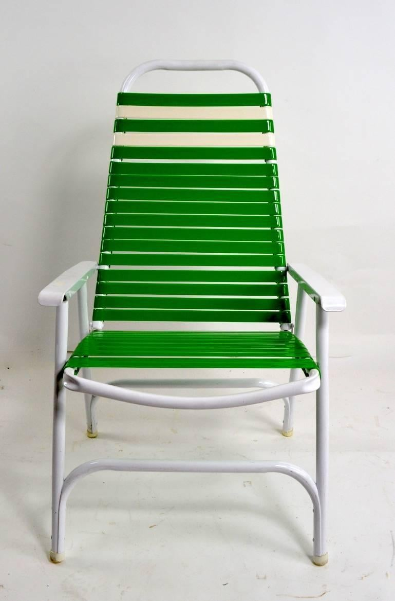 Foldable Lawn Chairs Pair Of Lawn Chairs By Telescope Furniture Company