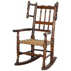 Antique Wooden Rocking Chairs Solid Wood Dining Room Table And 19th Century 91 For Sale At 1stdibs