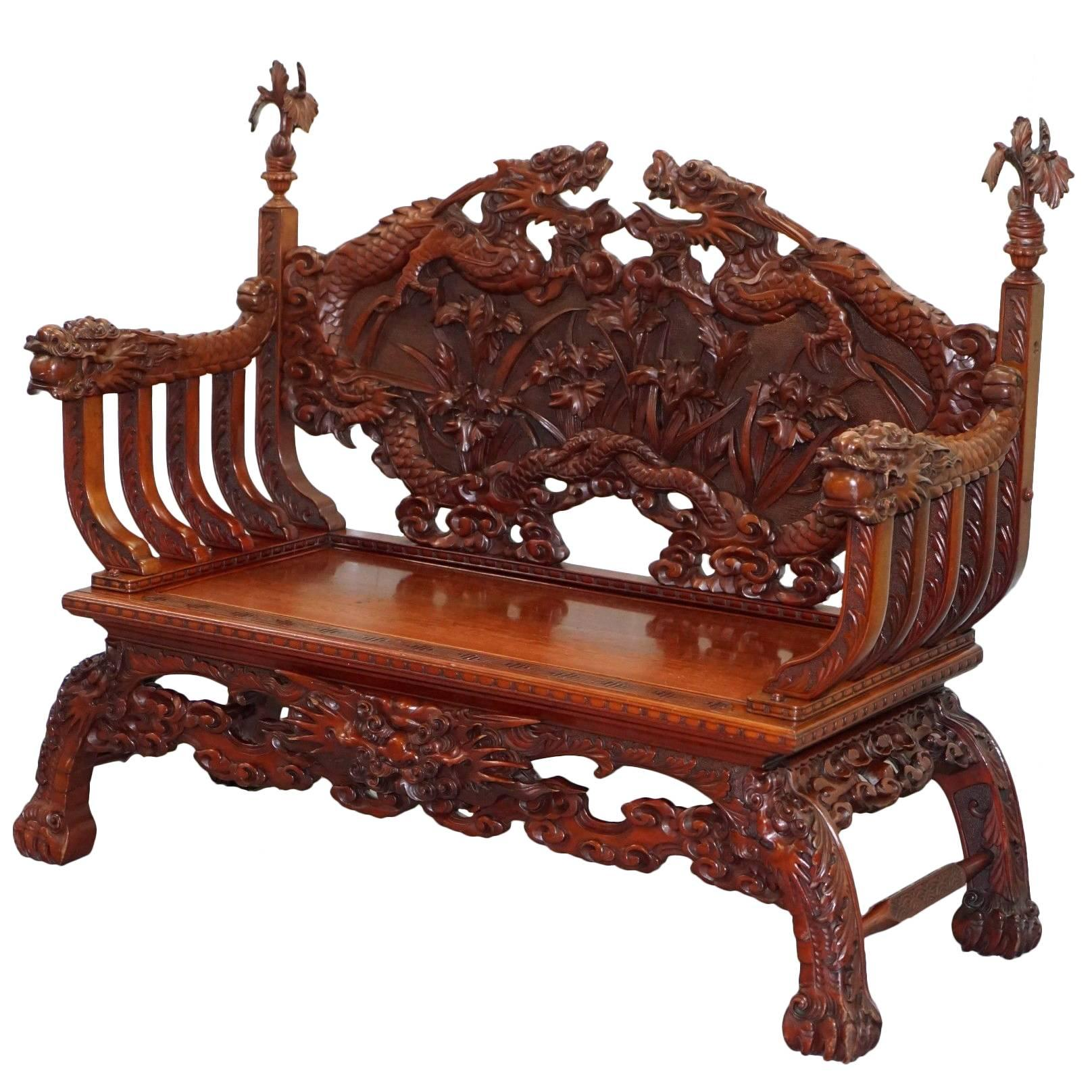 """antique chinese dragon chair executive office covers pair of hand carved """"dragon"""" chairs at 1stdibs"""