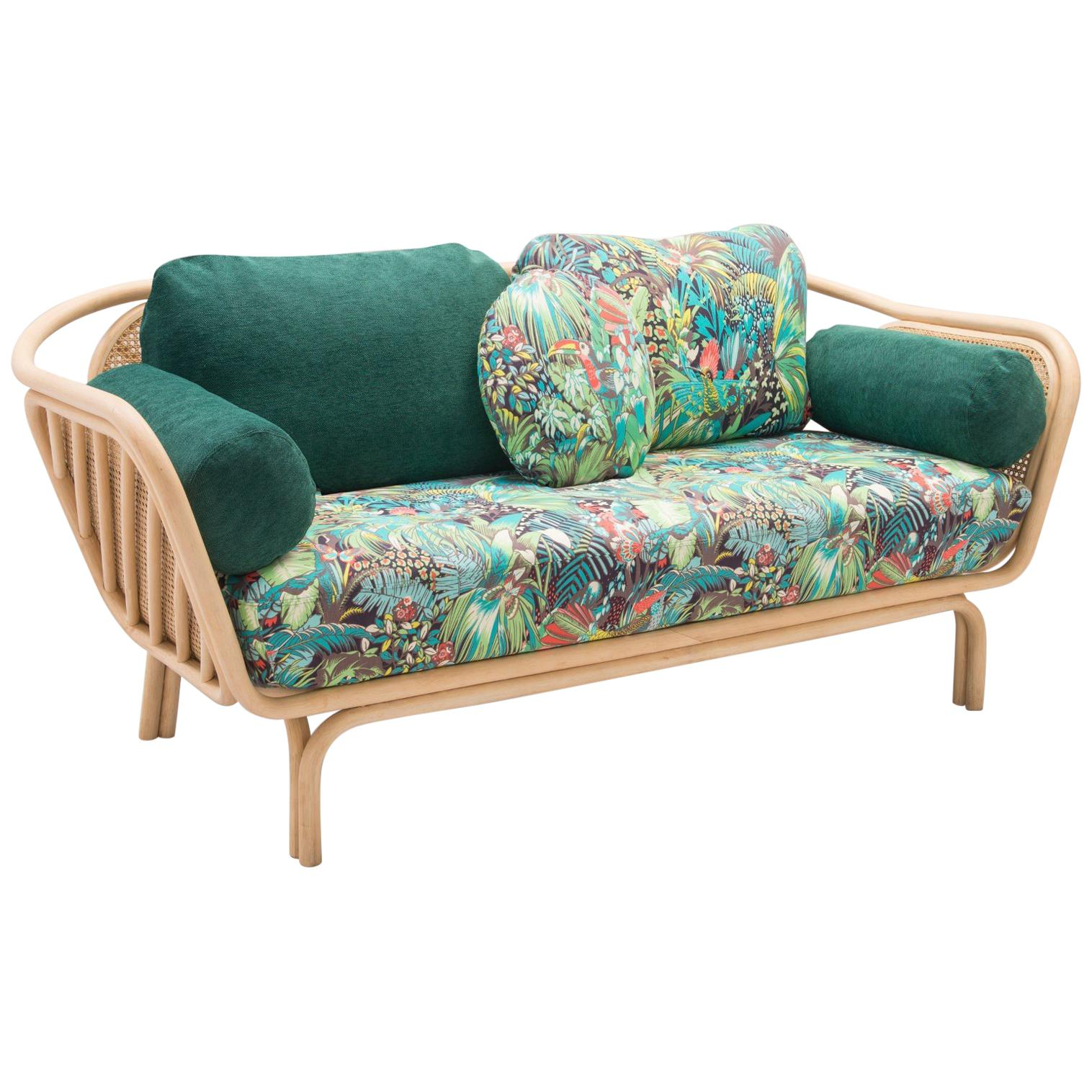 rattan and wicker sofa french design