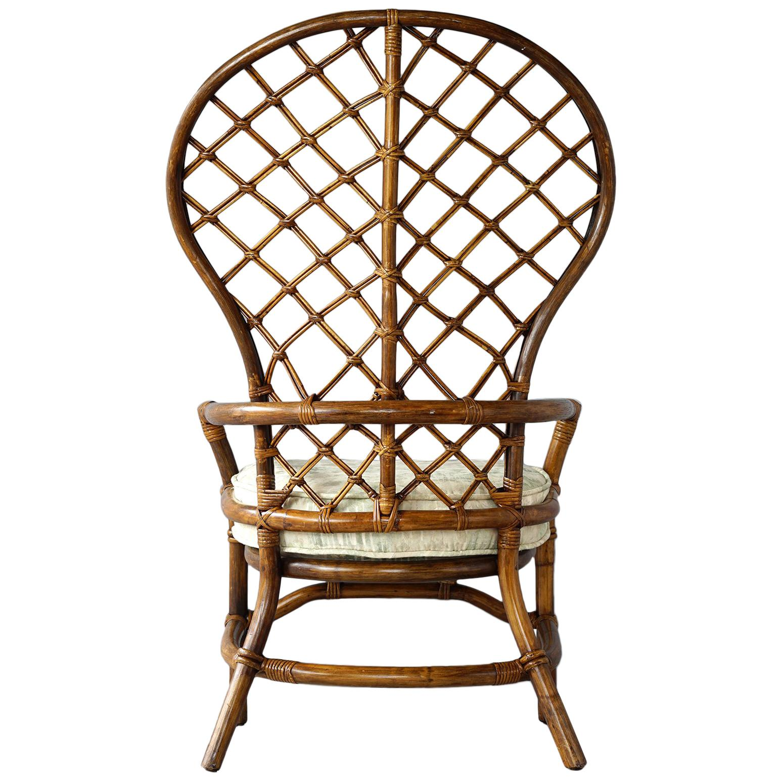 rattan wingback chairs bamboo wing back chair for sale at 1stdibs